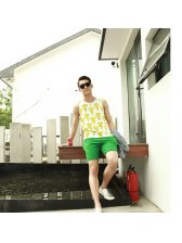 American Casual Style 2015 Latest Summer Design Men Loose Fashion Printed Pattern Vest