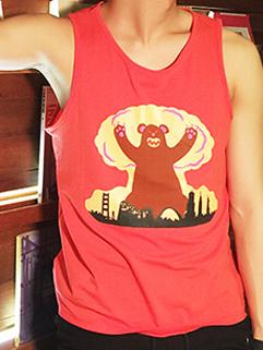 Japanese Retro Style 2015 Latest Summer Design Men Loose Fashion Cartoon  Printed Pattern Vest