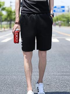 Handsome Men Match Black Cotton Casual Vertical Pockets Korean Pant