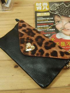 All Match Leopard Print Zip Up Hasp Womans Cheap Clutch Bag