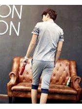 Latest Design Men Activewear Korean Style Fashion Slim Simple Printed