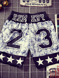 Men Shorts Fashion Sports Letter Printed Loose Europe And America Style