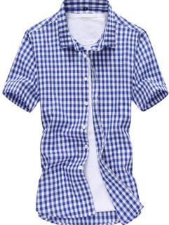 Men Shirt Fashion Casual Workman Style Slim Block Printed Latest Design