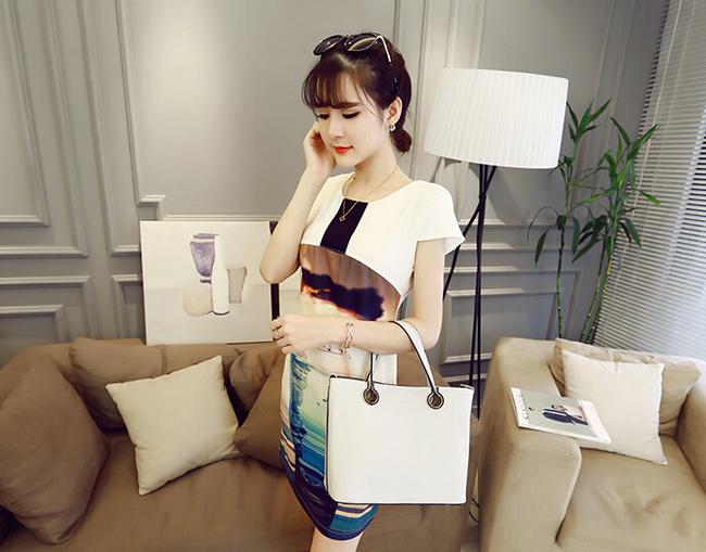 Charming Stylish Slim Wear Cute Printed Women Dress