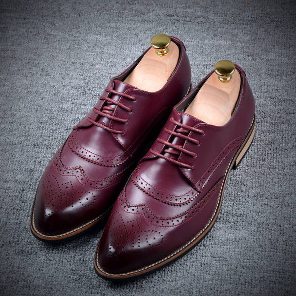 2015 New Fashion Men Leather Flats Vanguard Low Heel Handsome Solid Color