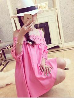 Latest Design Women Straps Dress Beautiful Grace Lace Floral Rose Princess Dress