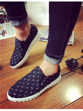 Korean Style Worn Out Pointed Toe Denim Loafers Womans Loafers