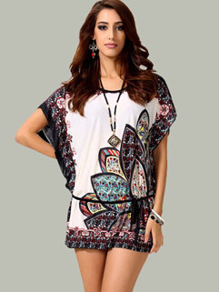High Quality Loose Fantasy Printed Summer T-Shirt