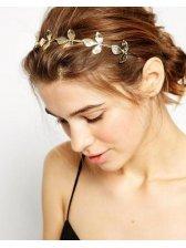 Beautiful Stereo Leaves Metallic Hair Accessory