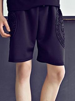 Fashion Street Style Men Shorts Korean Style Loose Handsome Cool Geometric Print
