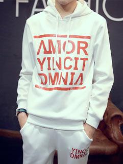 Latest Design Men Activewear Korean Style Sport Cool Active Loose Letter Printed