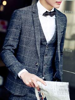 Elegant Gentlemen Men Suit Latest Design Korean Style Slim Charming Classic Design