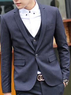 Charming Gentlemen Men Suit Fashion Business Korean Style Slim Handsome