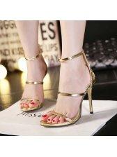 Wholesale Back Zip Anklet Thin Heels Golden Pumps Sexy Pumps
