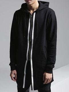 Fashion Punk Men Jacket Korean Style Long Solid Color Cool Vanguard