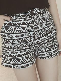 Vintage Brand Tribal Print Low Price Short Pants For Women