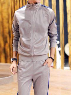 Korean Style New Fashion Men Activewear Fit Slim Handsome Sportswear For Men