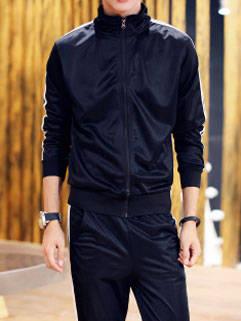 Korean Style New Fashion Men Activewear Fit Black Handsome Sportswear For Men