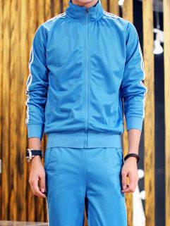 Korean Style New Arrival Men Activewear Fit Blue Handsome Sportswear For Men