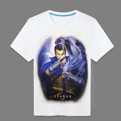2015 New Fashion Men Tee LOL Series The Unforgiven Yasuo Printed