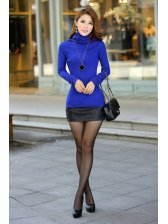 2015 Autumn Lace Splicing Slimming Knitted Top For Women