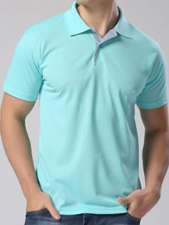 2015 New Fashion Men POLO Shirt London Style Light Green Handsome Clothing