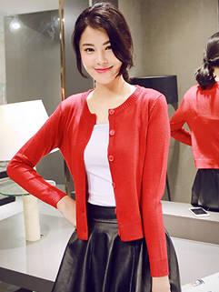 2015 Autumn New Women Knitting Cardigan Korean Style Casual Elegant Clothing