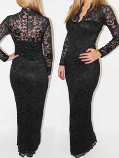 2015 New Arrival Women Maxi Dress Fashion Lace Stitching Pretty Lady