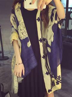 Boyfriend Stylish Women Printing Casual Street Style Scarves