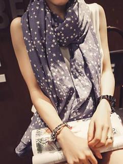 Cheap Simple Design Star Pattern Sunproof Casual Women Scarves