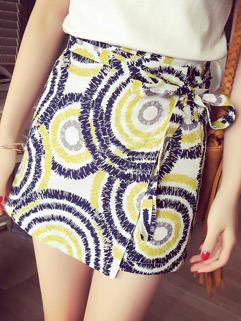 Individual Design Abstract Printing Elegant Skirt For Women