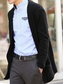 2015 New Arrival Men Coat Korean Style Handsome Vanguard Black Clothing
