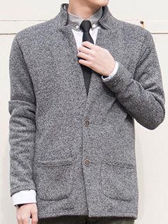 College Style Men Coat Latest Design Handsome Cool Solid Color