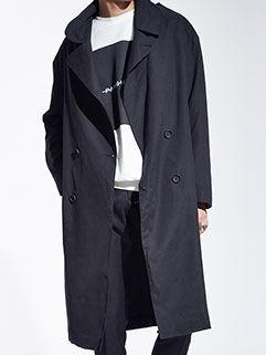 2015 New Fashion Men Long Coat Street Long Loose Handsome Vanguard