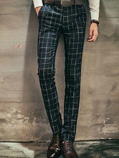 Workman Style Men Pants Latest Design Slim Handsome Block Printed