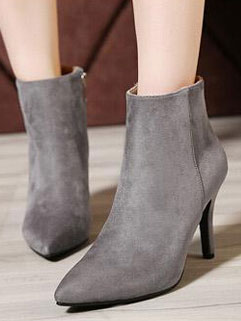 Stylish Brand Side Zipper Pointed Toe Ladylike Suede Boot