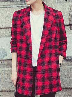 Korean Style Men Coat Street Fashion Long Loose Block Printed Handsome Cool