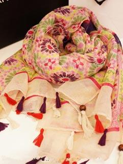Ethnic Floral Tassel Fashion Design Scarves