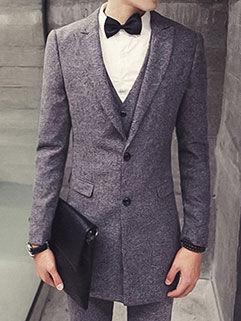 Fashion Men Coat Latest Design Workman Style Gray Long Handsome Gentleman