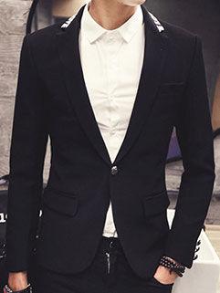 2015 Autumn New Men Coat Street Style Black Fashion Handsome Clothing