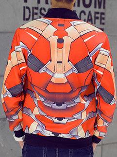 2015 New Fashion Men Coat Korean Sports Style Cool Printed Baseball Uniform