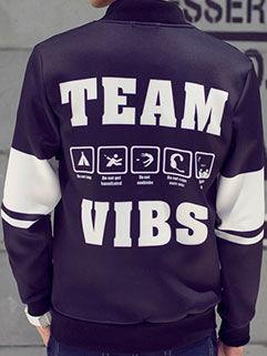 2015 New Fashion Men Coat Baseball Uniform Vanguard Active Letter Printed
