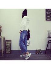 2015 Autumn Design Women Hoodies Street Style White Loose Sportswear