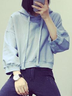2015 Autumn Design Women Hoodies Street Style Blue Fashion Sportswear