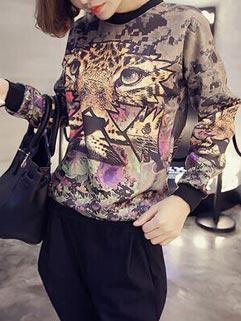 Fantasy Brand Tiger Printing Slim Wear Low-cost Hoodies