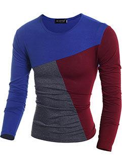 2015 Autumn Design Men Sweater Europe Style Slim Fitness Navy Blue