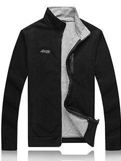 2015 Street Style Men Coat Fashion Handsome Black Warm LEYO Outerwear