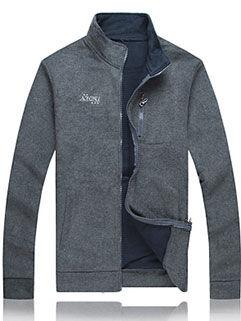 2015 Europe Style Men Coat Fashion Letter Printed Dark Gray LEYO Outerwear