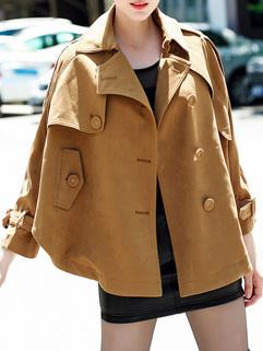 Fall Collection Lady Women Long Sleeve Dolman Design Short Coat