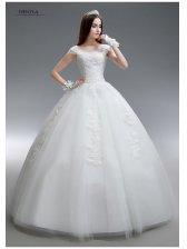 Impression White Beading Embellished A-line Princess Bridal Gown
